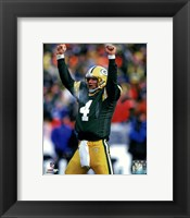 Framed Brett Favre 1996 Action