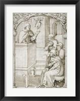 Framed Monk Preaching