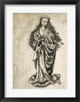 Framed Standing Female Saint