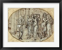 Framed Odysseus and the Daughters of Lycomedes