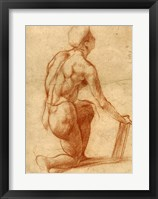 Framed Study of a Kneeling Figure