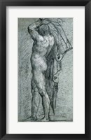 Framed Nude Man Carrying a Rudder on His Shoulder