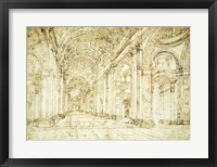 Framed Interior of Saint Peter's Basilica
