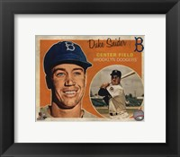 Framed Duke Snider 2013 Studio Plus