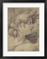 Framed Bust of an Angel