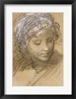 Framed Head of a Female Figure