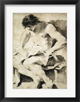 Framed Study of a Seated Young Man