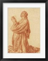 Framed Study of a Kneeling Man