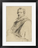 Framed Portrait of Hendrick van Balen