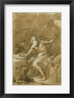 Framed Saint Jerome Hearing the Trumpet of the Last Judgement - posed