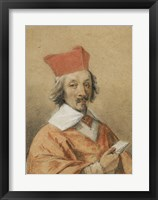 Framed Portrait of Armand-Jean du Plessis, Cardinal de Richelieu