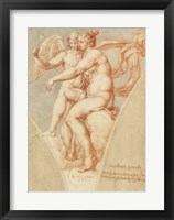 Framed Venus and Cupid after Raphael