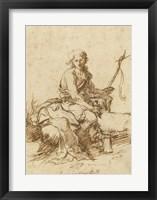 Framed Young John the Baptist History Scene