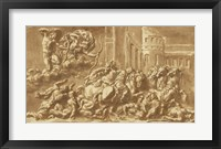 Framed Sons of Niobe Being Slain by Apollo and Diana