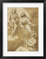 Framed Saint Francis Interceding with the Virgin on Behalf of a Female Saint