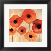 Framed Orange Poppies II -Mini