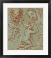 Framed Studies of the Madonna and Child and of Heads