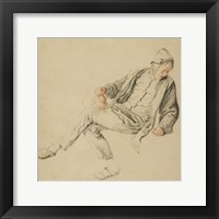 Framed Seated Peasant