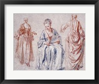 Framed Studies of Three Women