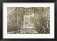 Framed Landscape with a Stairway and Balustrade