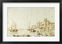 Framed Imaginary View of a Venetian Lagoon