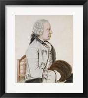 Framed Portrait of Charles-Benjamin de Langes