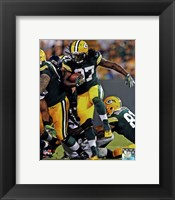 Framed Eddie Lacy with the ball 2013