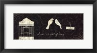 Love Paris Panel III Framed Print