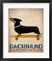 Framed Dachshund Longboards
