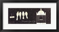 Love Paris Panel IV Framed Print