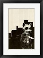 Framed Roller Cat