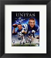Framed Johnny Unitas 2013 Portrait Plus