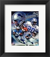 Framed Barry Sanders 2013 Portrait Plus