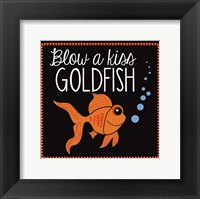 Framed Blow a Kiss Goldfish