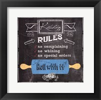 Roll with it - black Framed Print