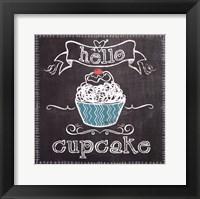 Hello Cupcake Framed Print