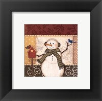Country Snowman III Framed Print