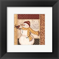 Country Snowman IV Framed Print
