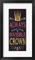 Invisible Crown - Black Framed Print