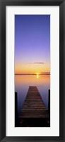 Framed Lake Charm Vert