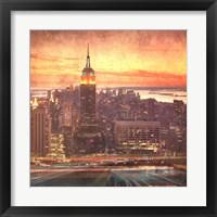 Framed Uptown Manhattan Parkway
