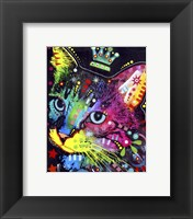 Framed Thinking Cat Crowned