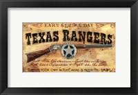 Framed Texas Rangers