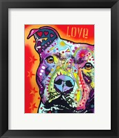 Framed Thoughtful Pit Bull 2