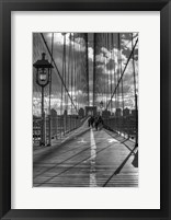 Brooklyn Bridge HDR 1 Framed Print