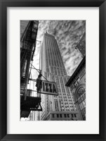 Empire State HDR 1 Framed Print