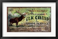 Framed Elk Camp