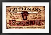 Framed Cattlemans