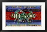 Framed Blue Crab