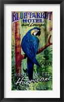 Framed Blue Parrot